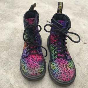 Dr Martens Leopard Rainbow Boots 13